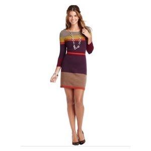Loft Block Color Sweater Dress in size Med